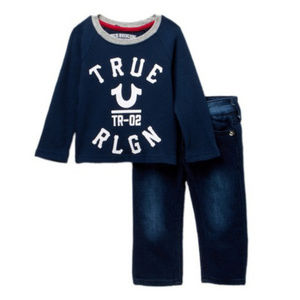 TRUE RELIGION 12 mo Long Sleeve & Blue Jeans  NWT